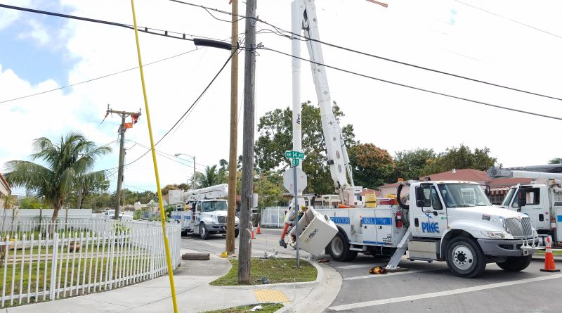 High voltage wire nearly kills electric company employee today