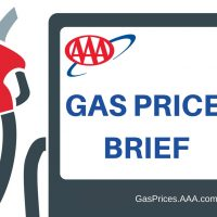 AAA's logo for their gas price brief