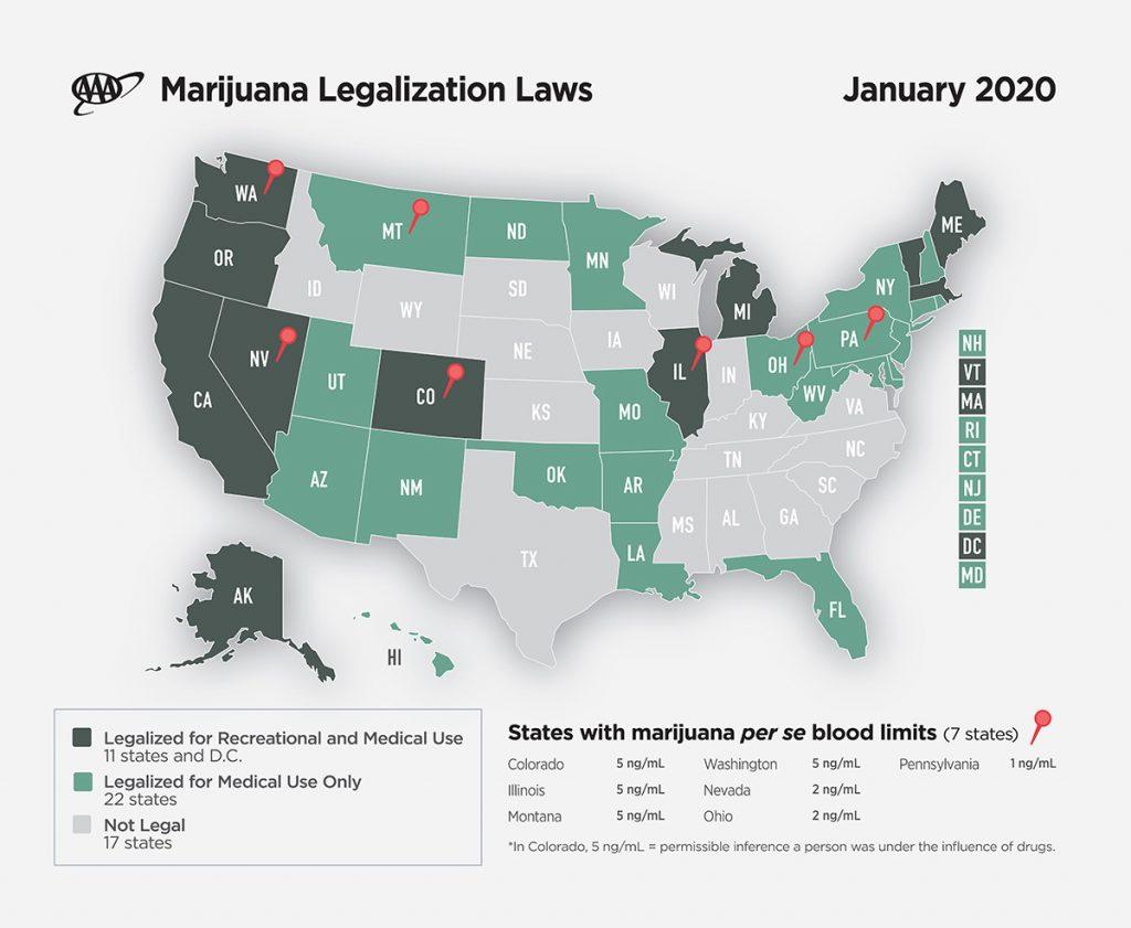 Marijuana Legalization Laws Map